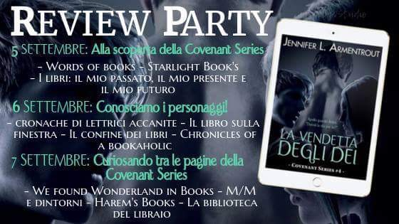 'LA VENDETTA DEGLI DEI' di J.L. Armentrout. Review party