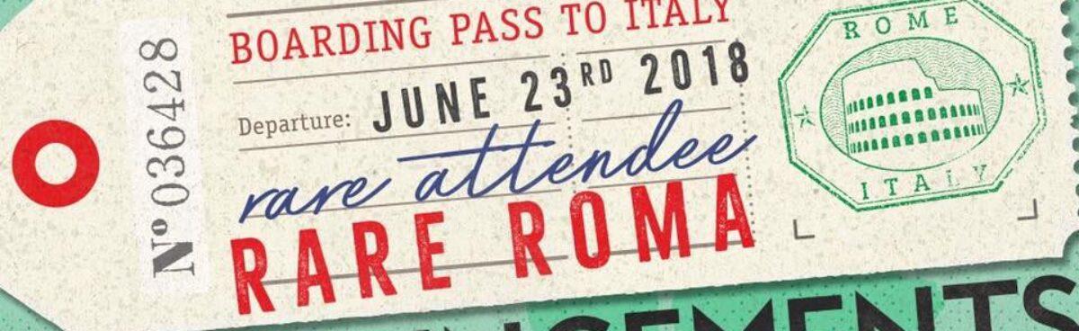 #RARE18 in Rome: LISTA AUTORI PARTECIPANTI.